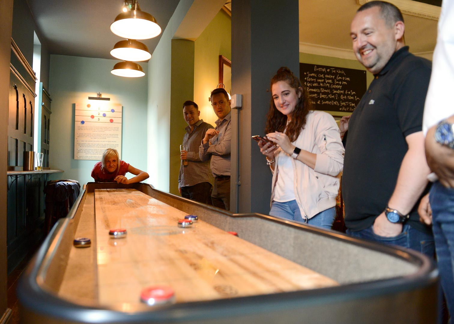 Shuffleboard group